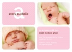 Her Precious Pink - Baby Girl Announcement Cards