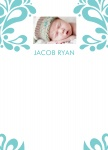 Blueboy's Garden - Baby Boy Thank You Cards