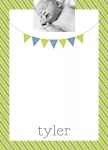 Lime Stripe -  Baby Boy Thank You Photo Cards