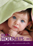 Plum Happy -  Babys First Christmas Cards