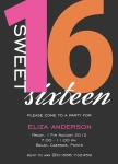 Pink Sixteen -  Sweet 16 Invitations
