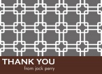 Grey Grid -  Thank You Notes for Men