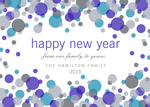 Bursting Bubbles -  Happy New Year Cards