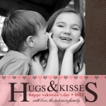 Pink Kisses -  Valentines Day Cards