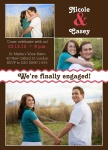 Chocolate Ribbon -  Engagement Party Invites