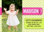 Chevron Sweet - kids party invitations