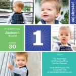Boy Birthday Party Invitations - Teal Sun