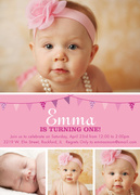 Girl Birthday Invitations - Lil Pink One
