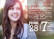 Translucent Star - graduation party invitations