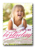 Birthday Party Invitations - Fuschia Pattern