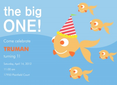 Kids Birthday Invitations, The Big Fish Design
