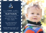 Photo Boy Birthday Invitations - Sailor Stripe