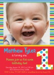Boy Photo Birthday Party Invitations - Crayon Colors