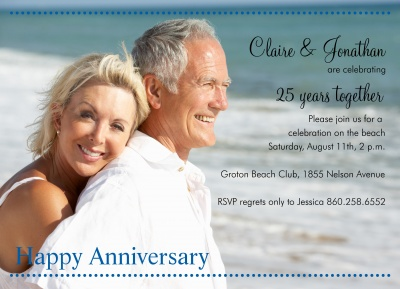 Wedding Anniversary Invitations, Clear View Design