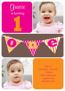 Lil One Pink - Photo Birthday Invitations