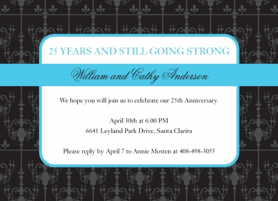 Wedding Anniversary Invitations, Crystal Love Design