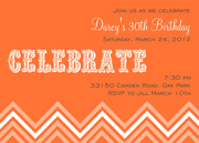 Adult Birthday Party Invitations - Citrus Celebration