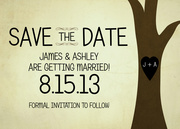 Our Initials Date -  Photo Save the Date Cards
