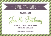 Lavender Love Date -  Photo Save the Date Cards
