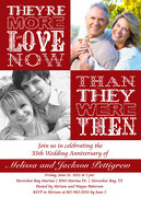 Crimson Love -  Photo Anniversary Invitations