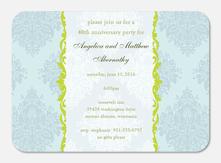 50th Wedding Anniversary Invitations - Anniversary Floral