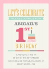 Girl Photo Birthday Party Invitations - Sweet 'n Subtle Pink