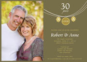 Celebrate Love - Wedding Anniversary Invitations