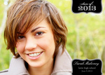 Graduation Announcement Cards - Onyx Sash