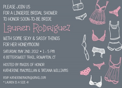 Bridal Shower Invitations, Sassy Lady Design