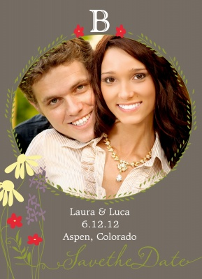 Save the Date Cards, Flower Bower Date Design