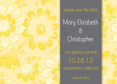 Save the Date Cards, Bright Bouquet Date Design