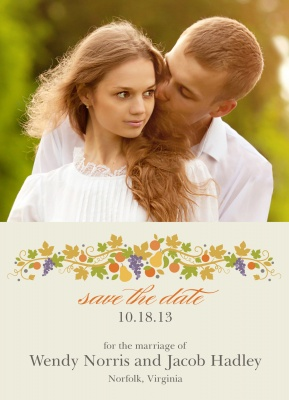 Save the Date Cards, Fall Harvest Date Design