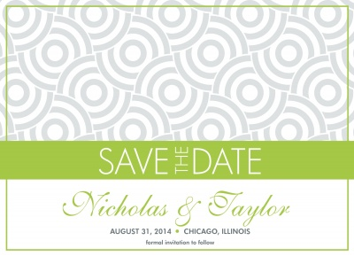 Save the Date Cards, Circle Me Date Design