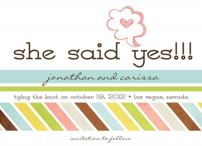 Save the Date Cards, Just Yes Date Design