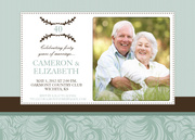 Photo Anniversary Invitations - 40 Blooms