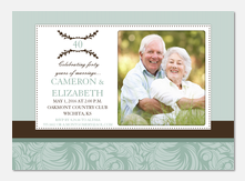 40 Blooms -  50th Wedding Anniversary Invitations