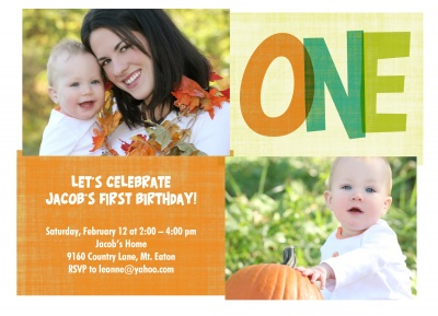 Kids Birthday Invitations, Orange Glow Design