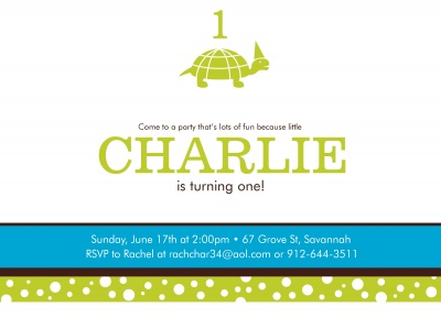 Kids Birthday Invitations, Turtle Fun Design