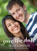 Dashing Duo Date - Save the Date Photo Cards