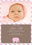 Birth Announcements for Girls - First Steps Pink