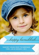 Hanukkah photo cards - Blue Hanukkah Wrap