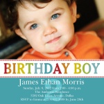 Boy Birthday Party Invitations - Birthday Blue