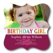 Girl Photo Birthday Party Invitations - Birthday Berry