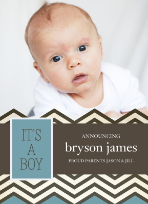 Birth Announcements, High Stepper Design