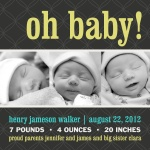 Male Newborn Announcement - Quilt Boy