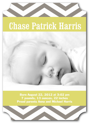 Birth Announcements, Silver Spring Design