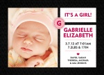 Girl Birth Announcements - Stitch In Time Pink