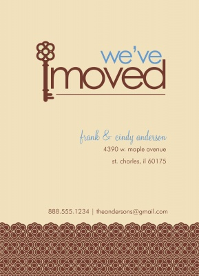 We've Moved Announcements , Castle Keys Design