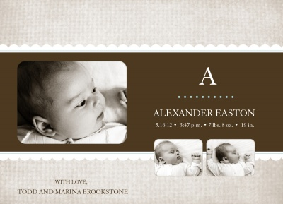 Birth Announcements, Mister Natural Design