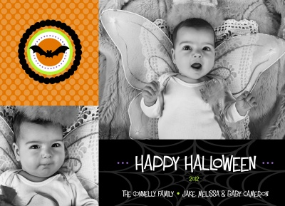 Halloween Greeting Cards, Batty Baby Design
